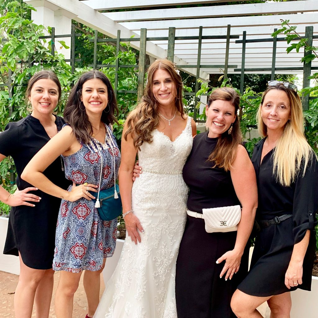Military Bride with wedding planner in san diego at l'auberge