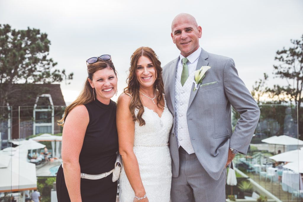 Wedding Planner with Military Bride and Groom at L'Auberge Del Mar, California