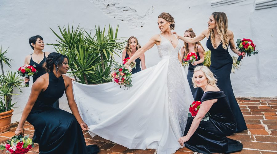 Classic Bride with Bridesmaids